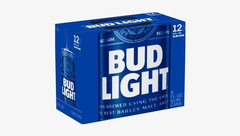 Bud Light Cans 12 Pack - 12 Pack Of Bud Light, transparent png #1110678