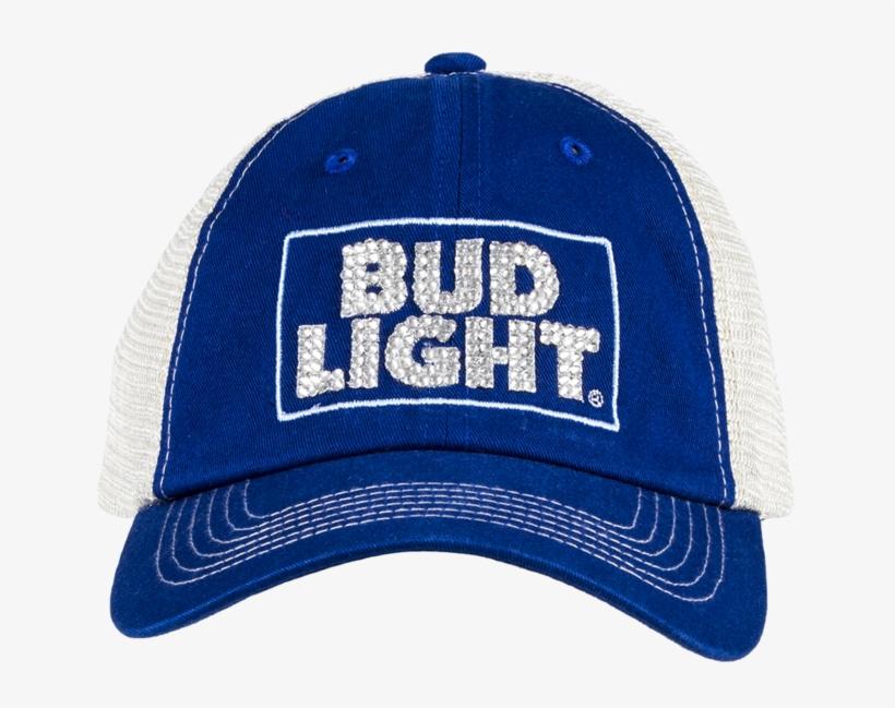 Bud Light Bling Hat- Blue Trucker - Bud Light Platinum Beer - 12 Pack, 12 Fl Oz Cans, transparent png #1110967