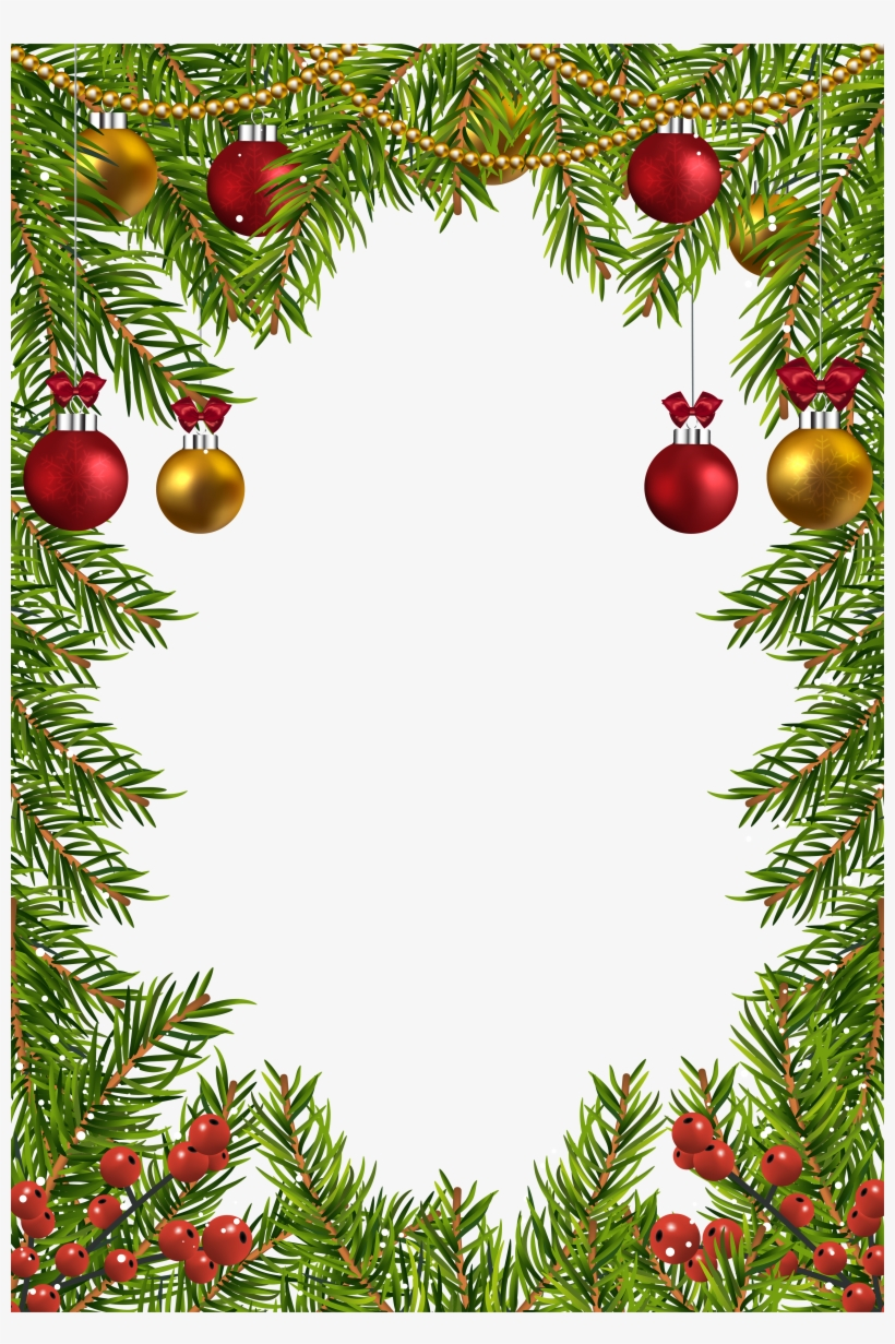 Christmas Transparent Border Frame Gallery Yopriceville - Transparent Christmas Borders Design, transparent png #1111449