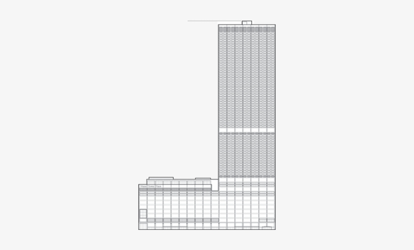 Water Tower Place Outline - Cf Murphy Associates Water Tower, transparent png #1114190
