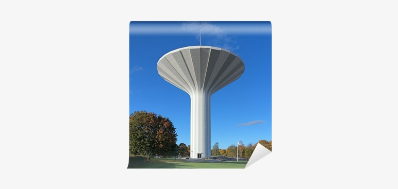 Water Tower Svampen In Orebro, Sweden Wall Mural • - Orebro City Water Tank Sillhoutte, transparent png #1114485