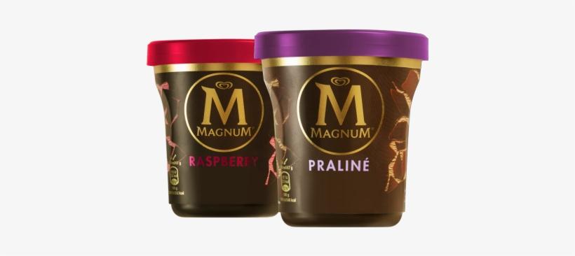 Magnum Tub Chocolate & Hazelnut Praliné Ice Cream 440ml - Magnum Eis Praline Becher, transparent png #1114964