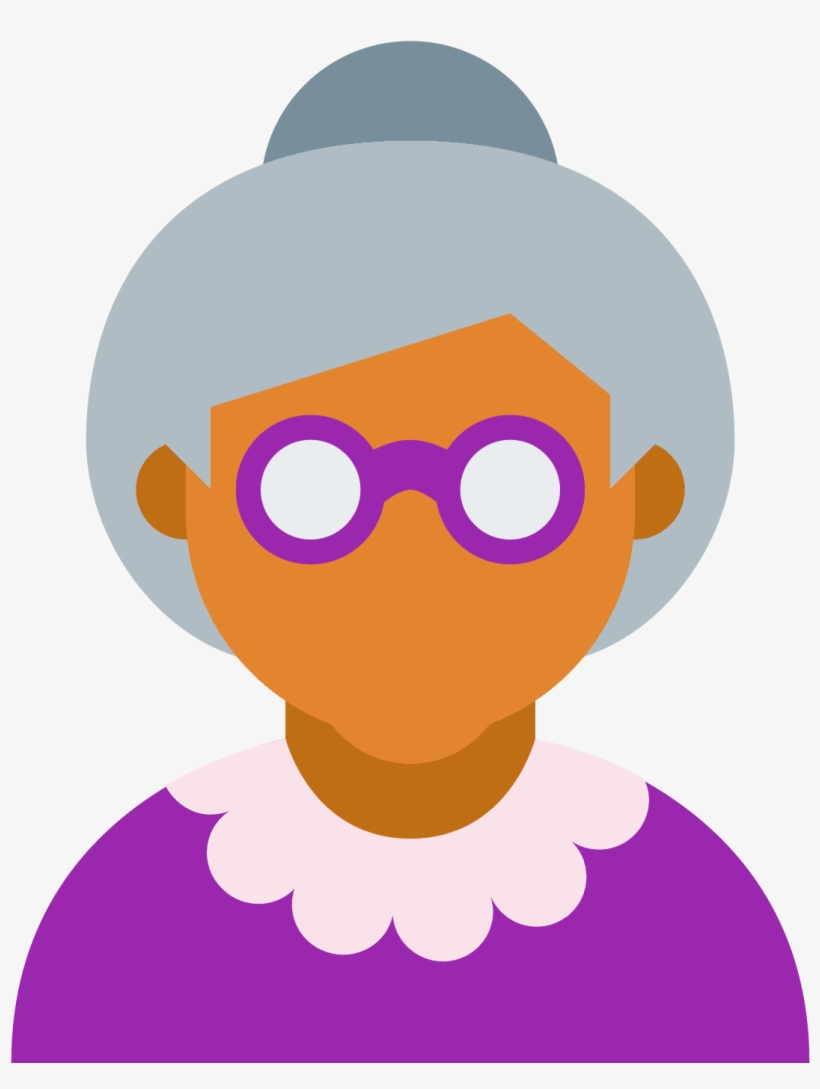 Old Age Ícones - Old Women Icon, transparent png #1115436