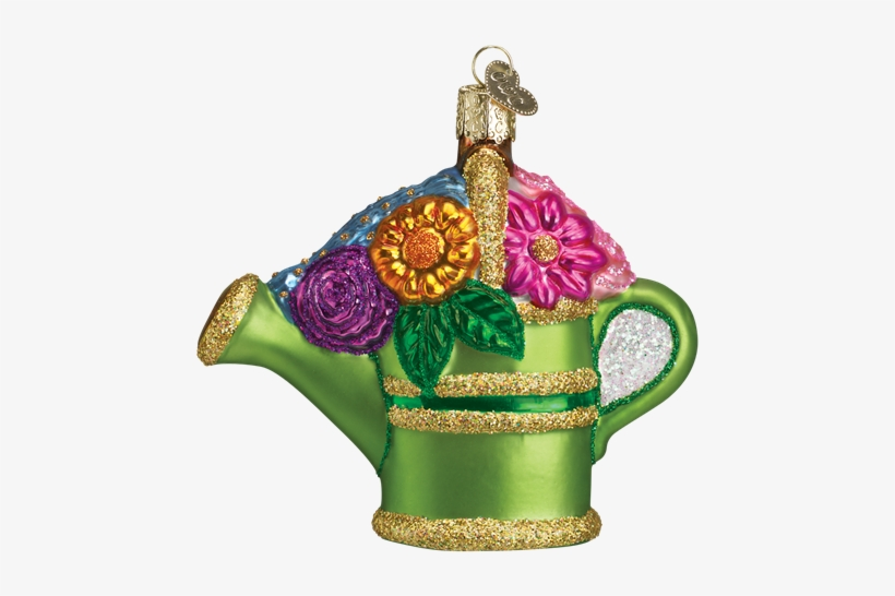 Picture Of Watering Can - Old World Christmas Garden Watering Can Christmas Ornament, transparent png #1116583