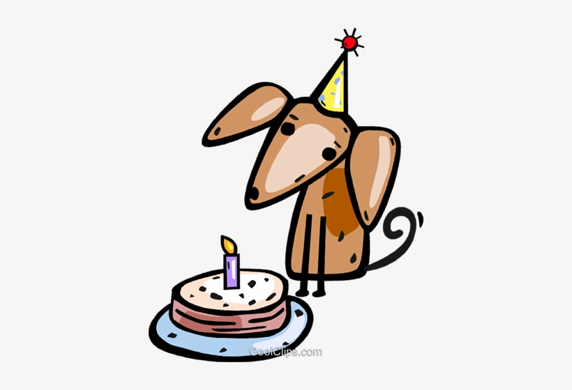Puppy With His Birthday Cake Royalty Free Vector Clip - Happy Birthday Dog Long Sleeve T-shirt, transparent png #1117284