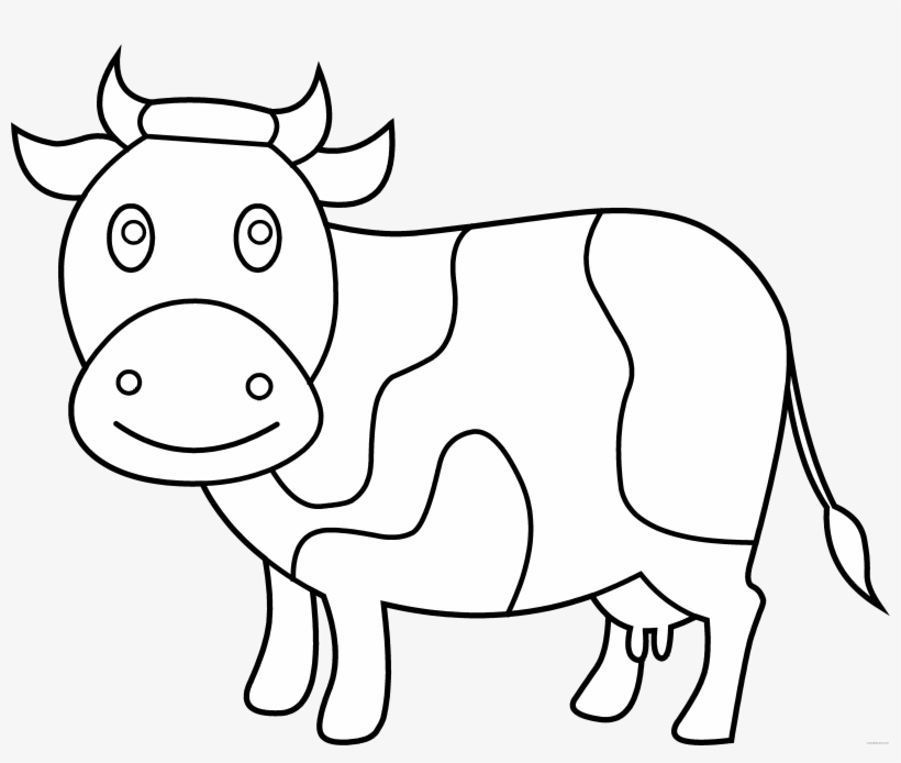 28 Collection Of Cute Cow Coloring Pages - Cow Clipart To ...