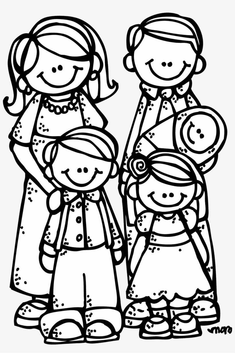 my family coloring pages  stick figure family clip - free transparent png download