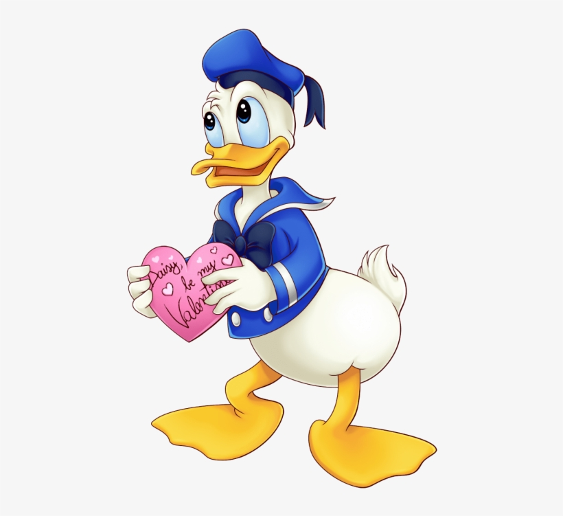 Free Png Donald Duck Holding Heart Png Images Transparent - Donald Duck Cartoon, transparent png #1121383