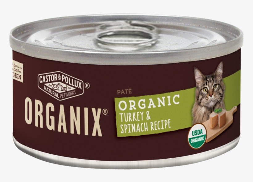 Castor And Pollux Organix Turkey And Spinach Formula - Organix Organic Canned Cat Food Chicken Pate 3 Oz., transparent png #1123154