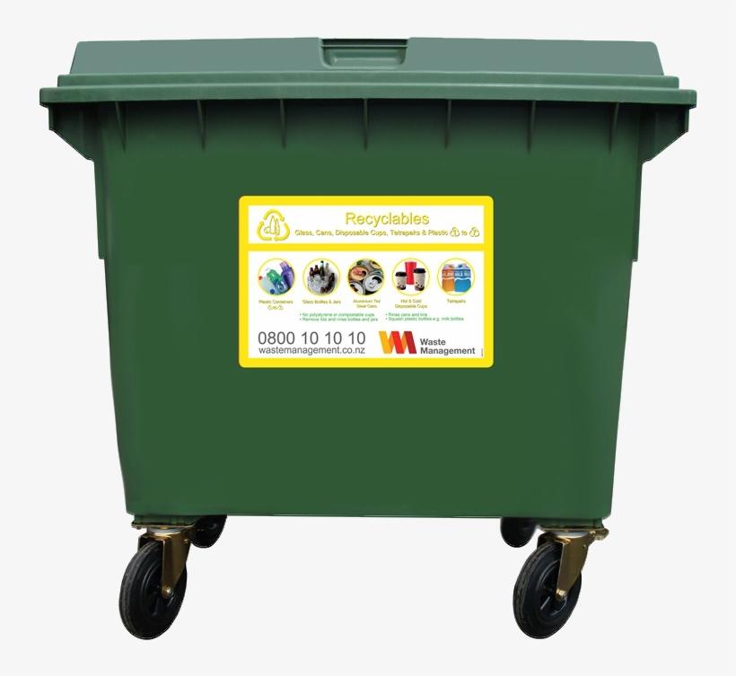 660 Litre Wheelie Bin - Waste Management Wheelie Bins, transparent png #1125174