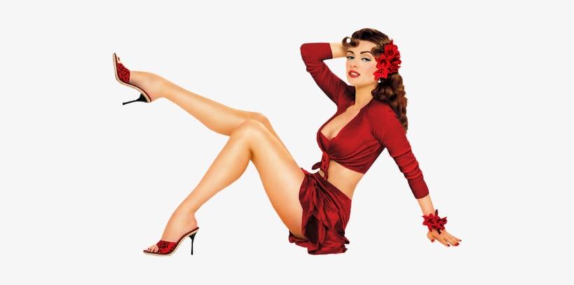 Pin Up Model Png - Pin Up Girl Burlesque, transparent png #1127263