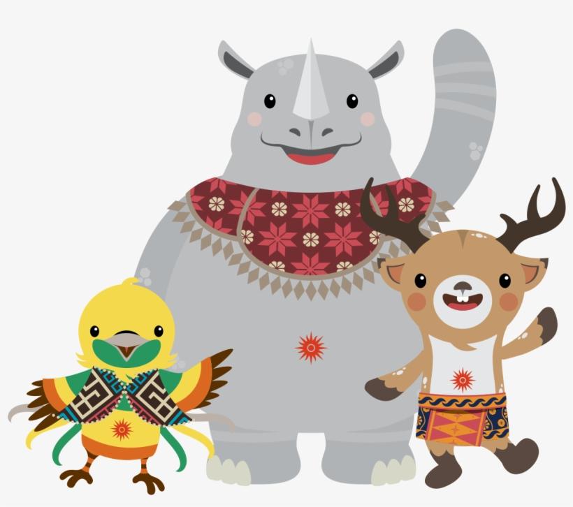 Maskot Asian Games  Mascot Of Asian Games