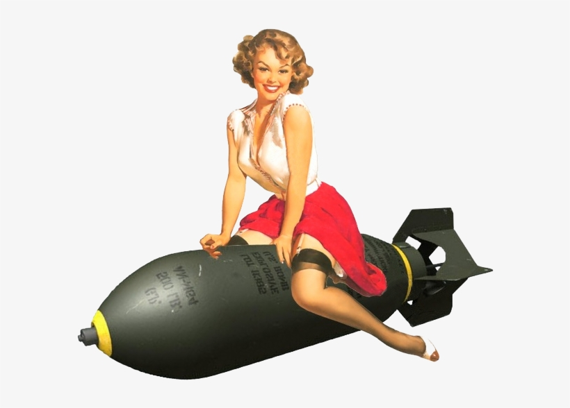Pinup - Pin Up Girl Bomb, transparent png #1127348