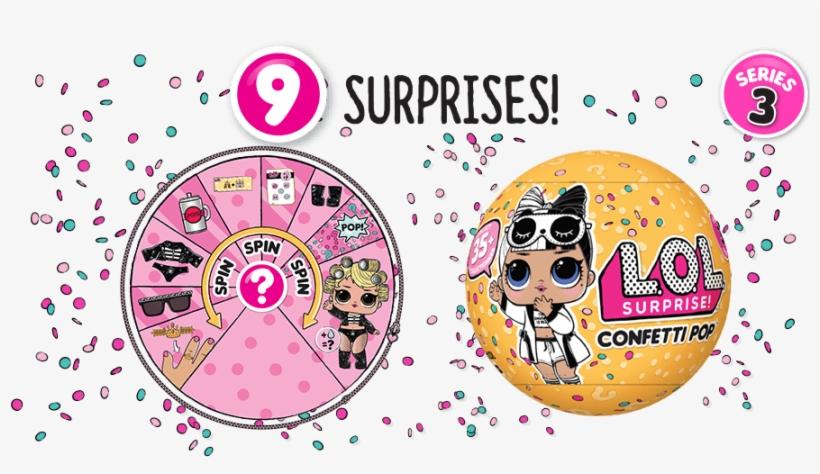 Series 3 L - Lol Confetti Pop Series 3, transparent png #1129876