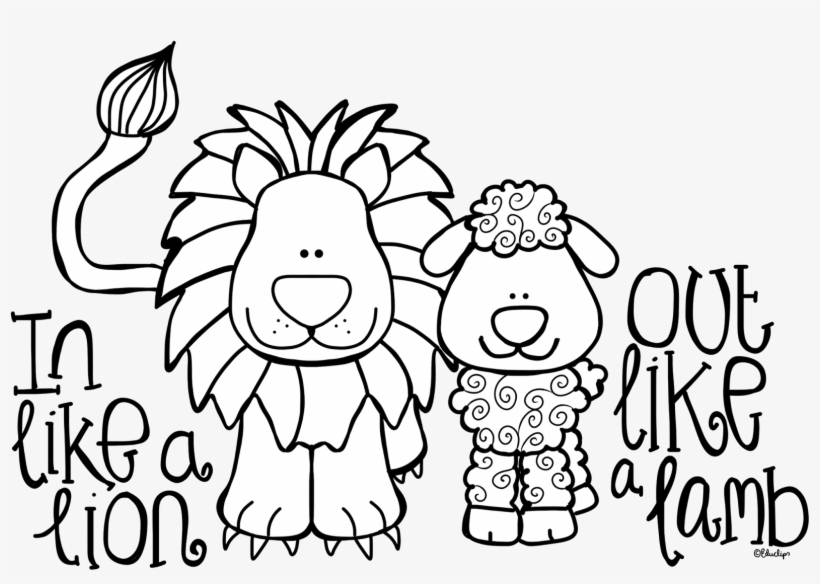 coloring pages lion and lamb - photo#3