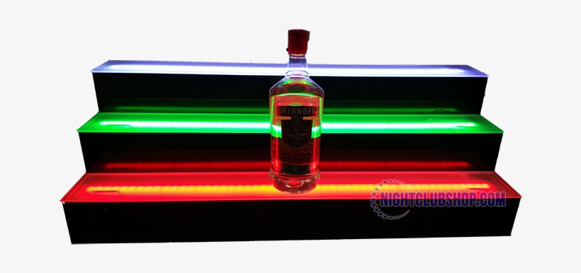 Led 3 Tier Liquor Bottle Shelf Display Glorifier - Diy Light Up Bar Shelf, transparent png #1131249
