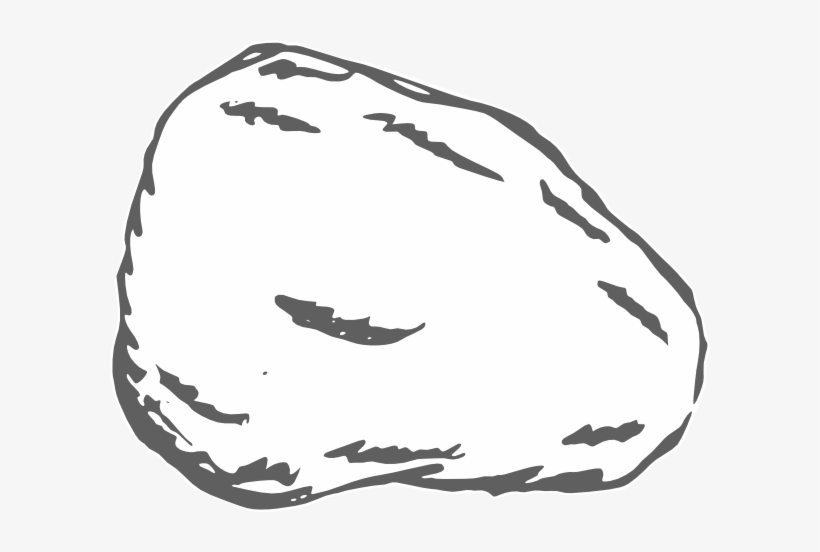 Image Royalty Free Library Rocking Clipart Grey Rock - Coloring Picture Of A Stone, transparent png #1132113