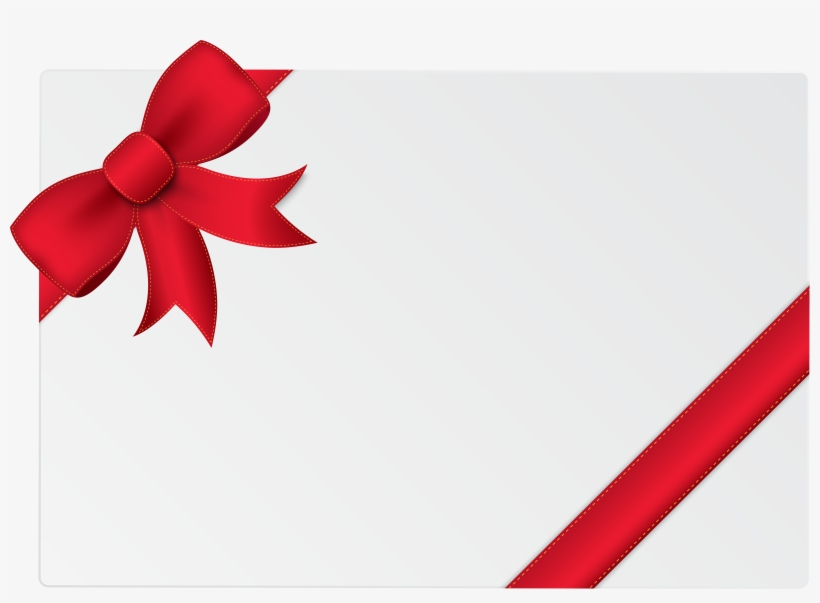 Card With Ribbon Png, transparent png #1133197