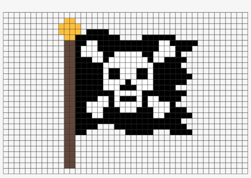 Pixel Art Pirate Flag, transparent png #1133399