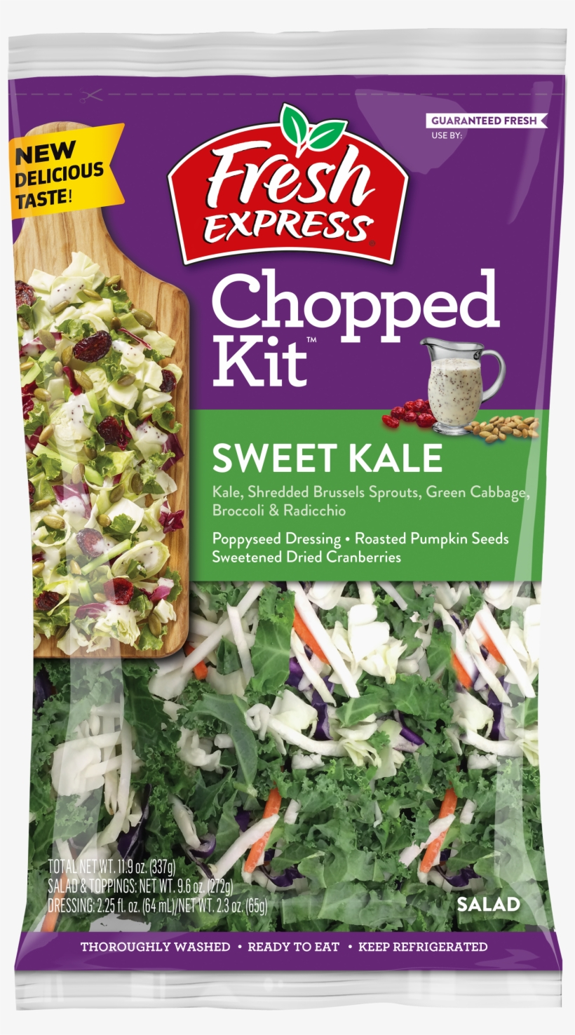 Sweet Kale Chopped Salad Kit - Fresh Express Spring Mix - 5 Oz Bag, transparent png #1134226
