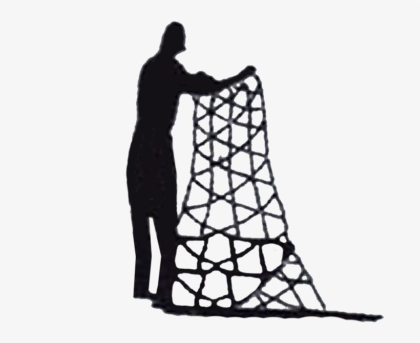 Fisherman Handling Fishing Net Fish Nets, Fishing, - Fishing, transparent png #1134885