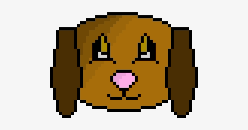 Pixel Dog Face - Dog Face Pixel Art, transparent png #1135095