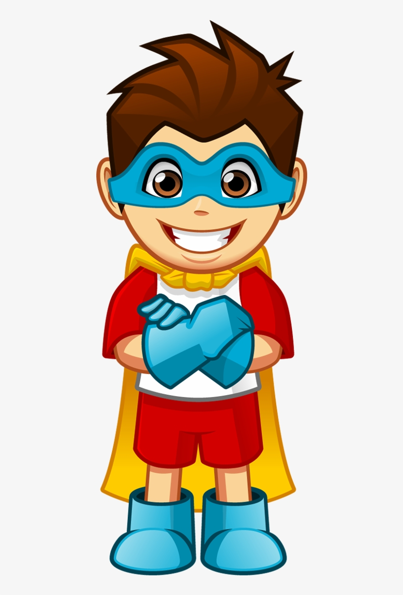 Cartoon Smiling Superhero Boy With Arms Crossed Super Hero Cartoon Png Free Transparent Png Download Pngkey
