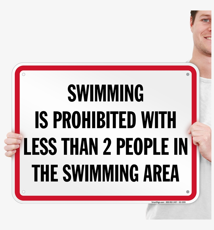 Swimming Prohibited Tennessee Pool Sign - Pay Attention What People Say When They, transparent png #1137688