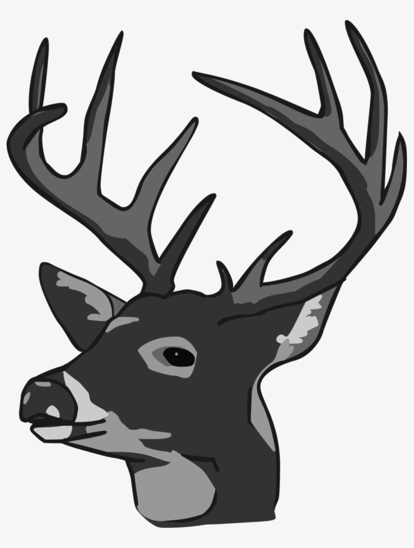 Deer Head Clipart - Deer Head, transparent png #1137987