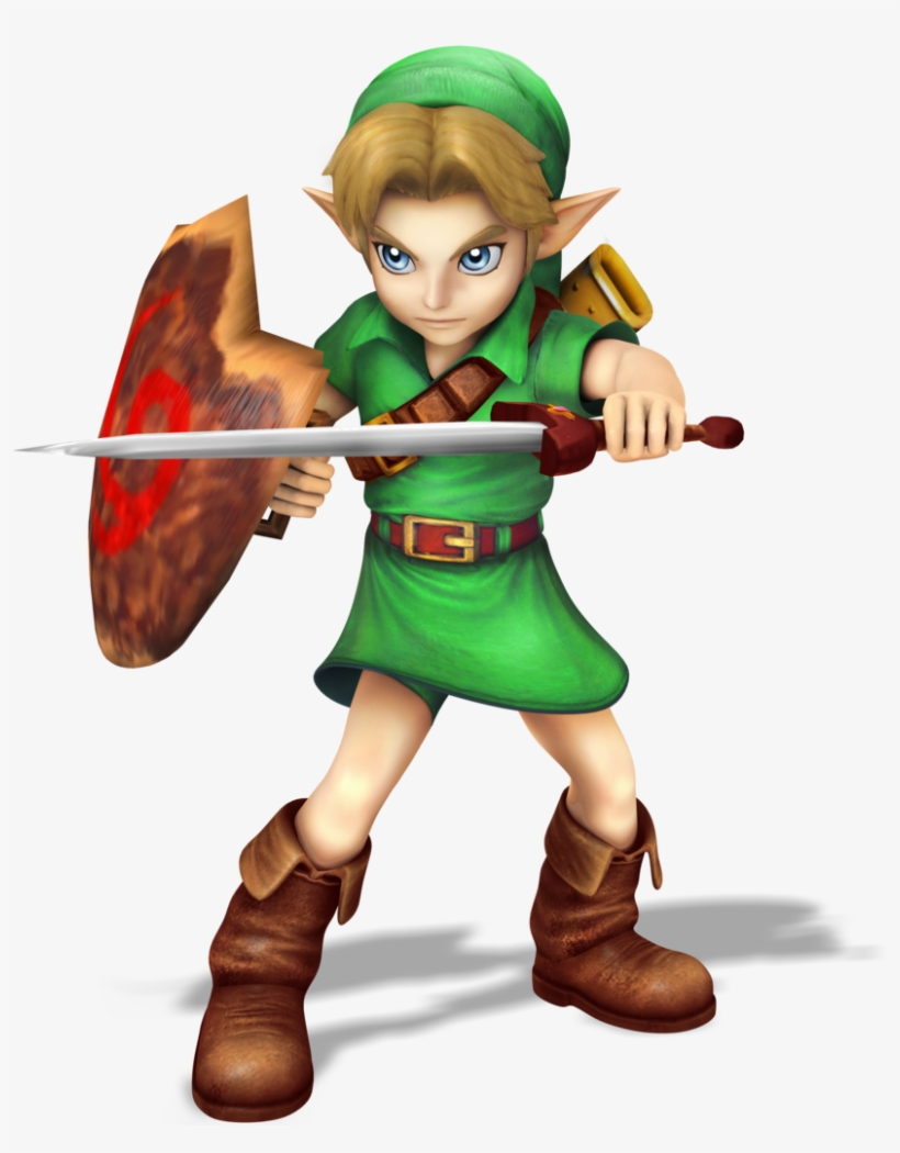 Young Link Smash Bros Style Render By Nibroc Rock-d9703zs - Super Smash Bros Switch Young Link, transparent png #1138838