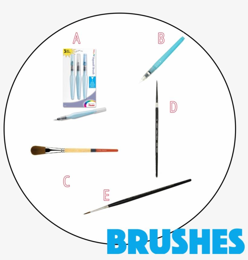 2 Brushes Site - Pentel Arts Aquash Water Brush Set (pack, transparent png #1140894