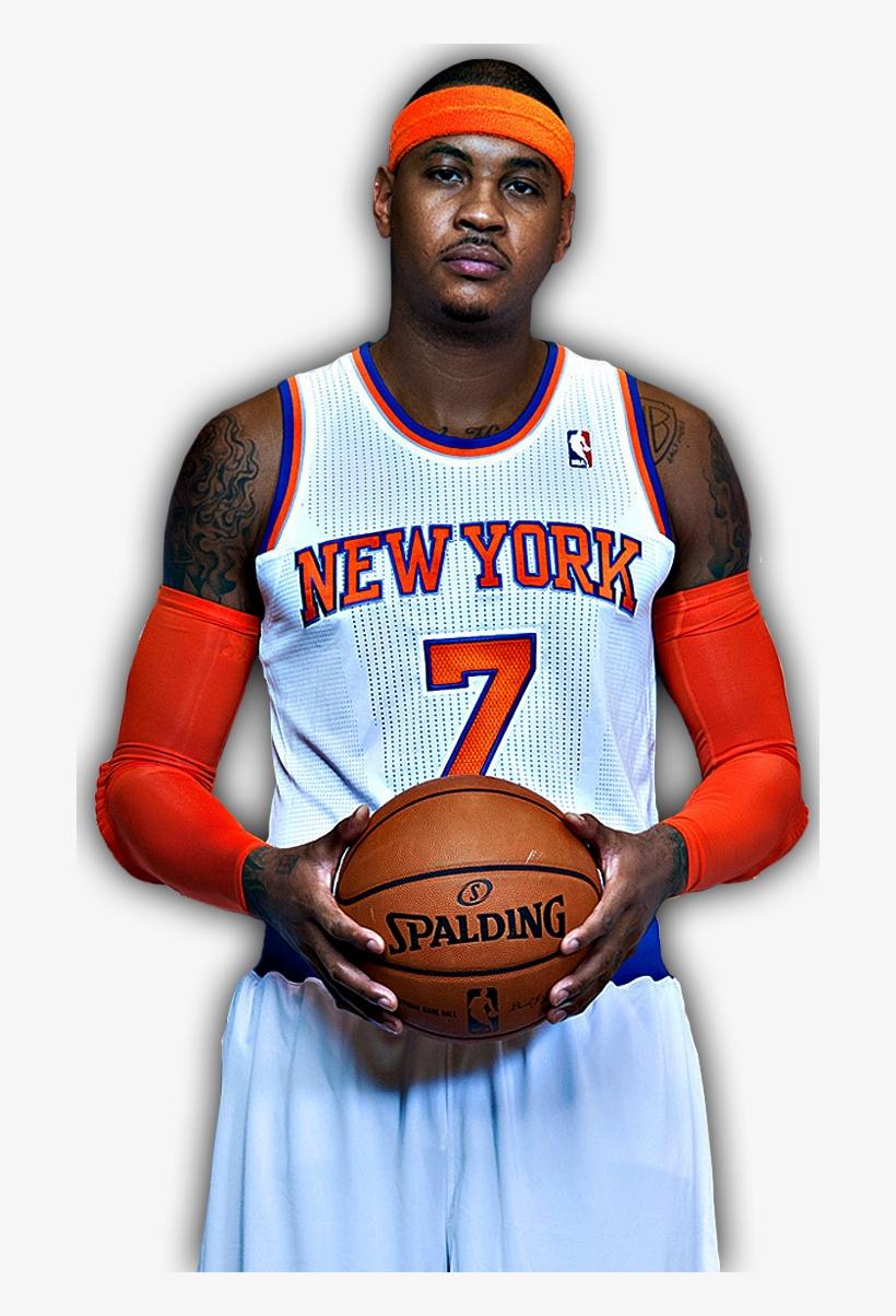Carmelo Anthony - New York Knicks, transparent png #1141193