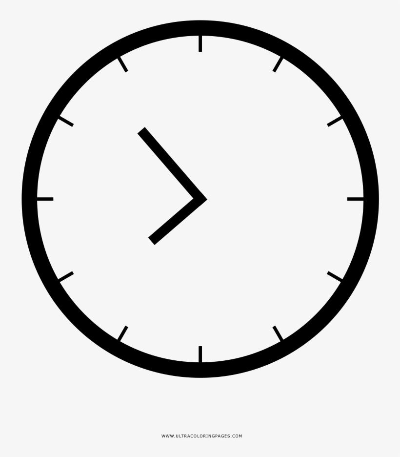 Dibujo De Reloj Para Colorear Analog Clock 9 O Clock Free