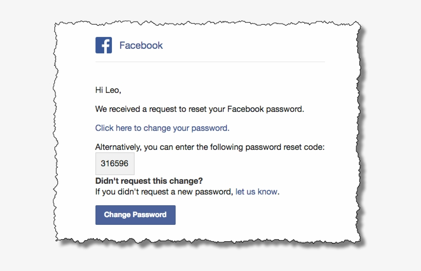 Facebook Password Reset - Facebook Someone Is Trying To Hack