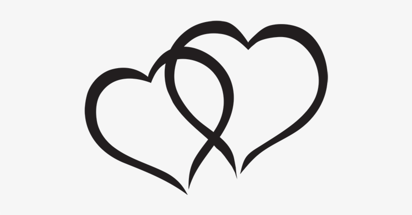 Heart black and white. Hearts clipart interlocked interlocking