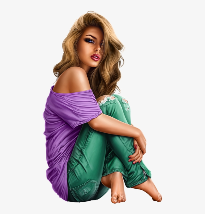 Pin By Serenity Millenium On Illustrations Arts - Tube Femme Assise En Png, transparent png #1143843