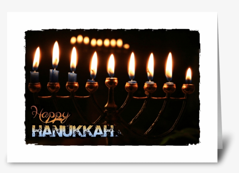 Happy Hanukkah Greeting Card - New Year Wishes Candles, transparent png #1144467