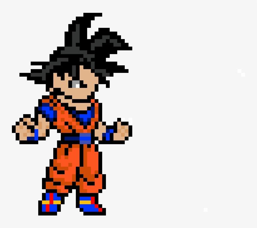 Goku Pixel Art Pixel Art Dragon Ball Free Transparent