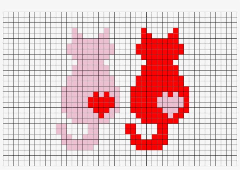 Cats Pixel Art Pixel Art Cats Love Animal Cute Couple Grid