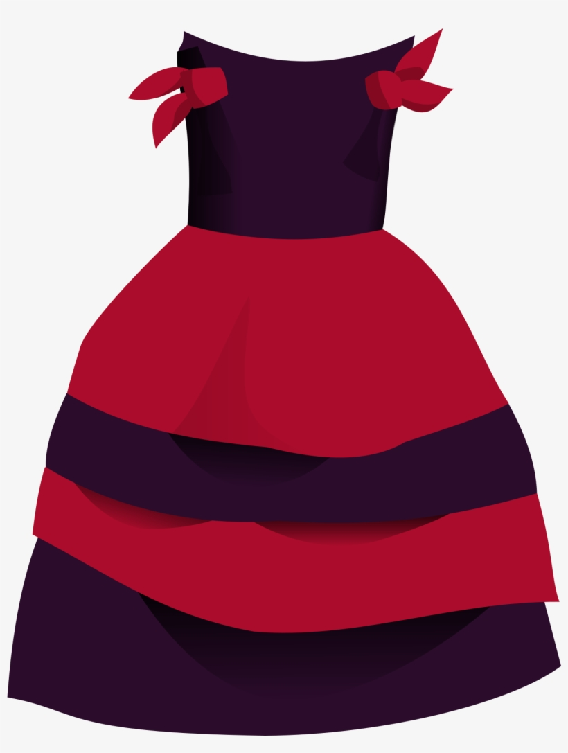 Gown Clipart Kid Dress - Dress Girl Clipart Png, transparent png #1147052
