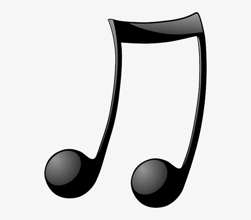 Music, Note, Symbol, Recreation, Cartoon, Double - Music Notes, transparent png #1147542