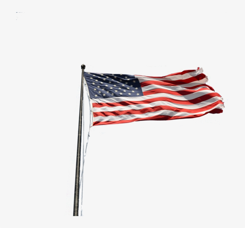 American Flag On Pole Png Picture Black And White Download - Flag Of The United States, transparent png #1148088