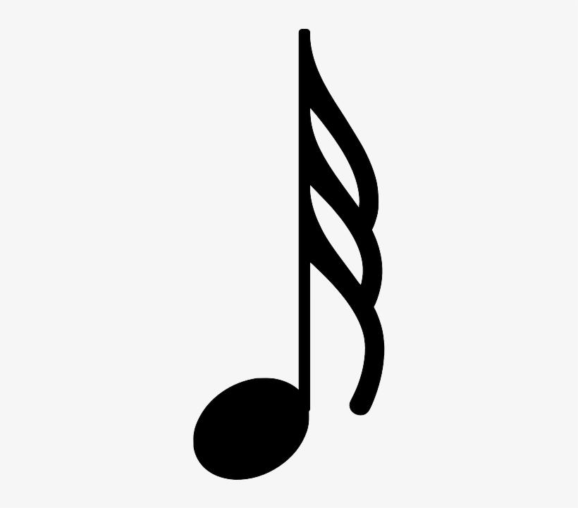 Color Music Notes Png - 64th Note, transparent png #1148195