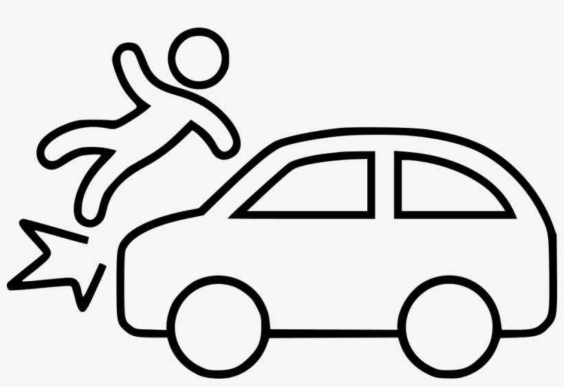 Car Accident Outline Of Car Trunk Free Transparent Png
