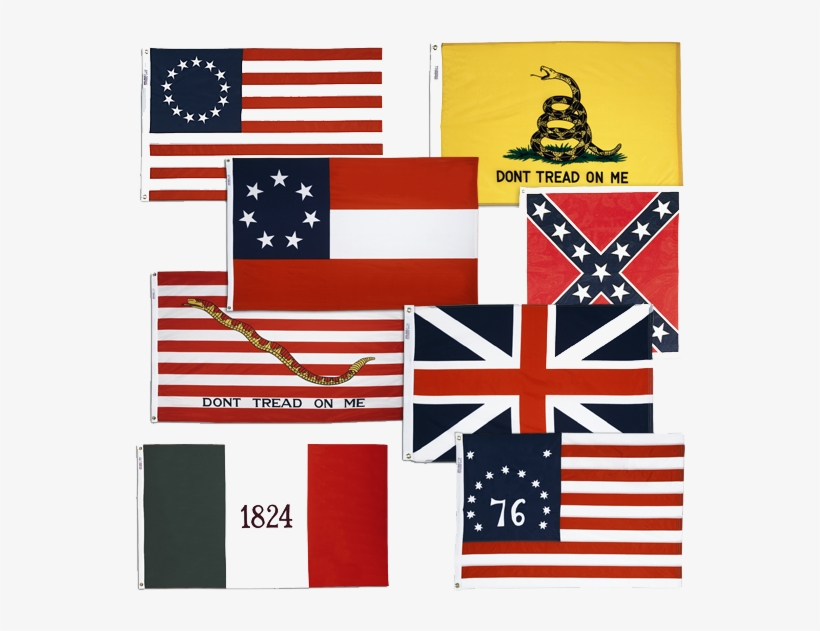 Us Historic - 12 In. X 18 In. Gadsden Flag Nylon, transparent png #1148845