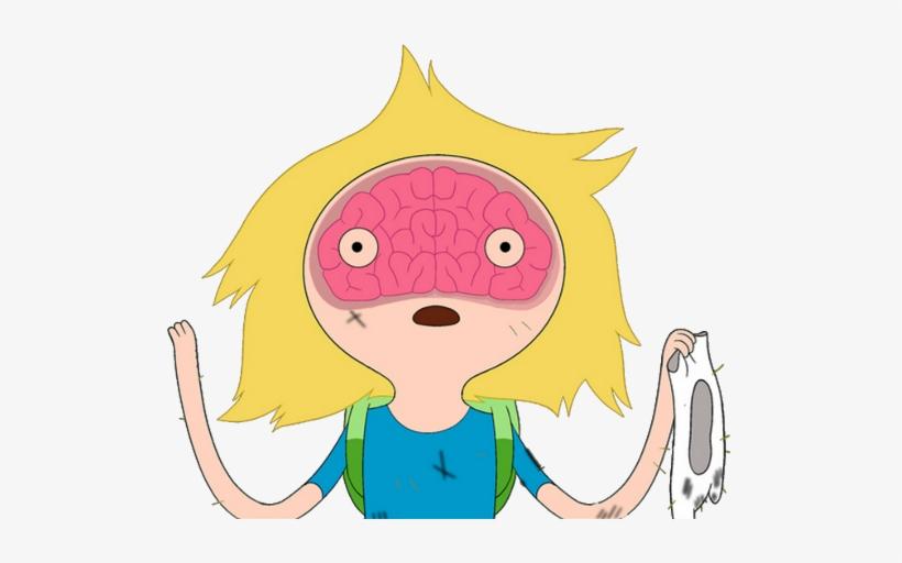 Finn With Brain Outline Special Model - Adventure Time Finn Brain, transparent png #1149508