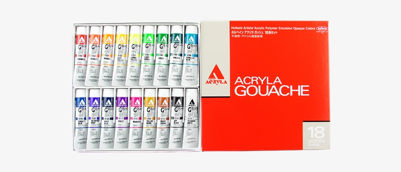 Holbein Acryla Gouache In 20ml Tube - Holbein Acrylic Gouache Colors, transparent png #1149578