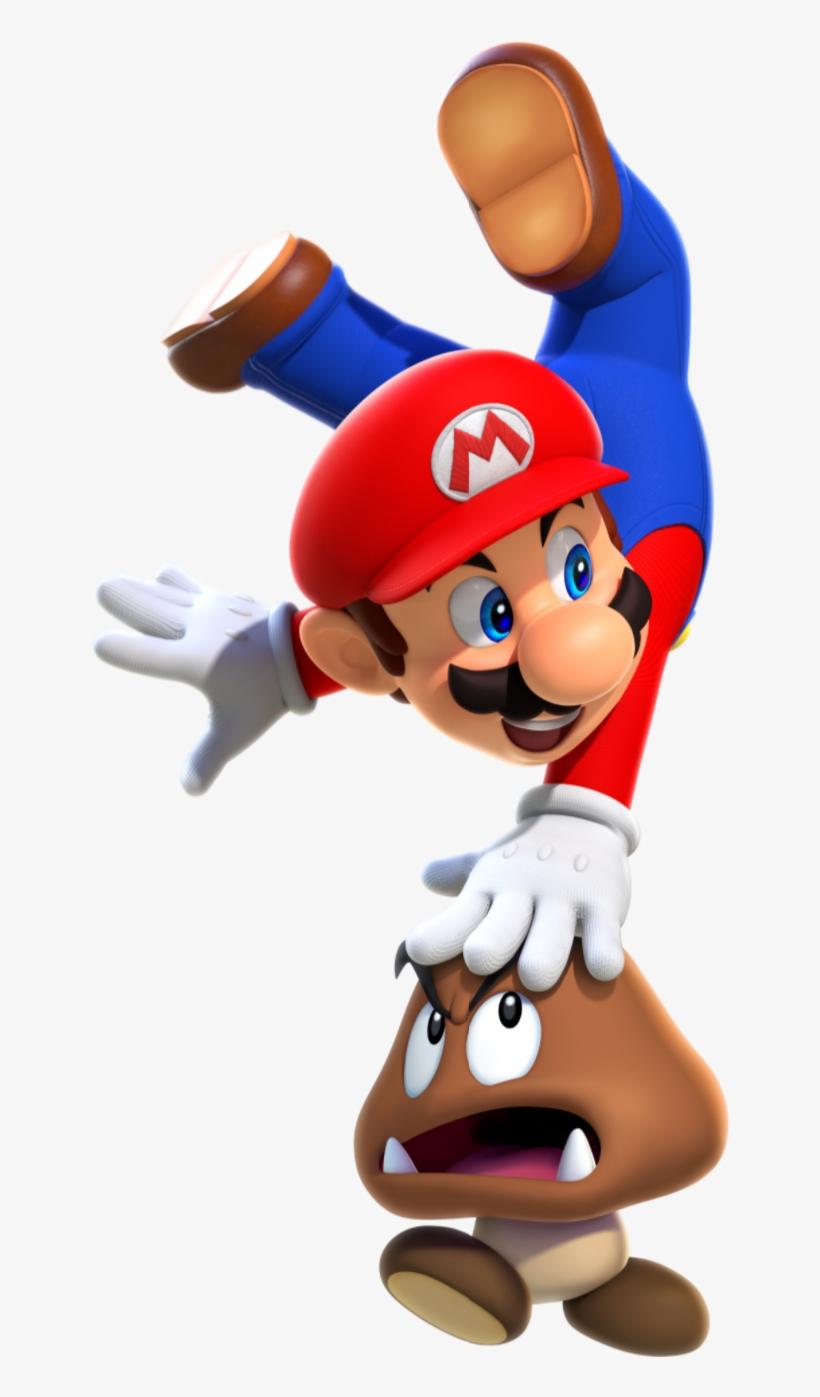 1boy 3d Absurdres Blue Eyes Brown Hair Facial Hair - Super Mario Mario Bros, transparent png #1150395