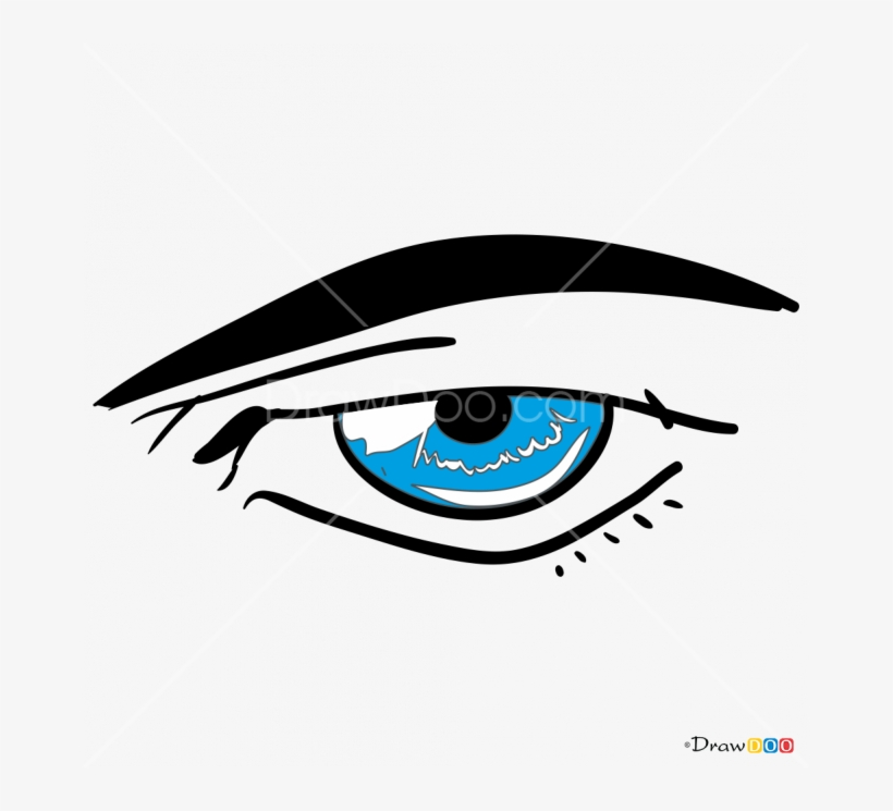 How To Draw Male Eye Clip Art Freeuse Library - Anime Eyes Male Transparent, transparent png #1151102