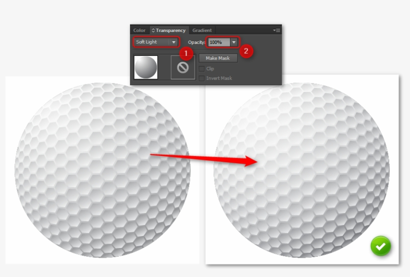 How To Create A Golf Ball In Illustrator - Illustrator, transparent png #1151517